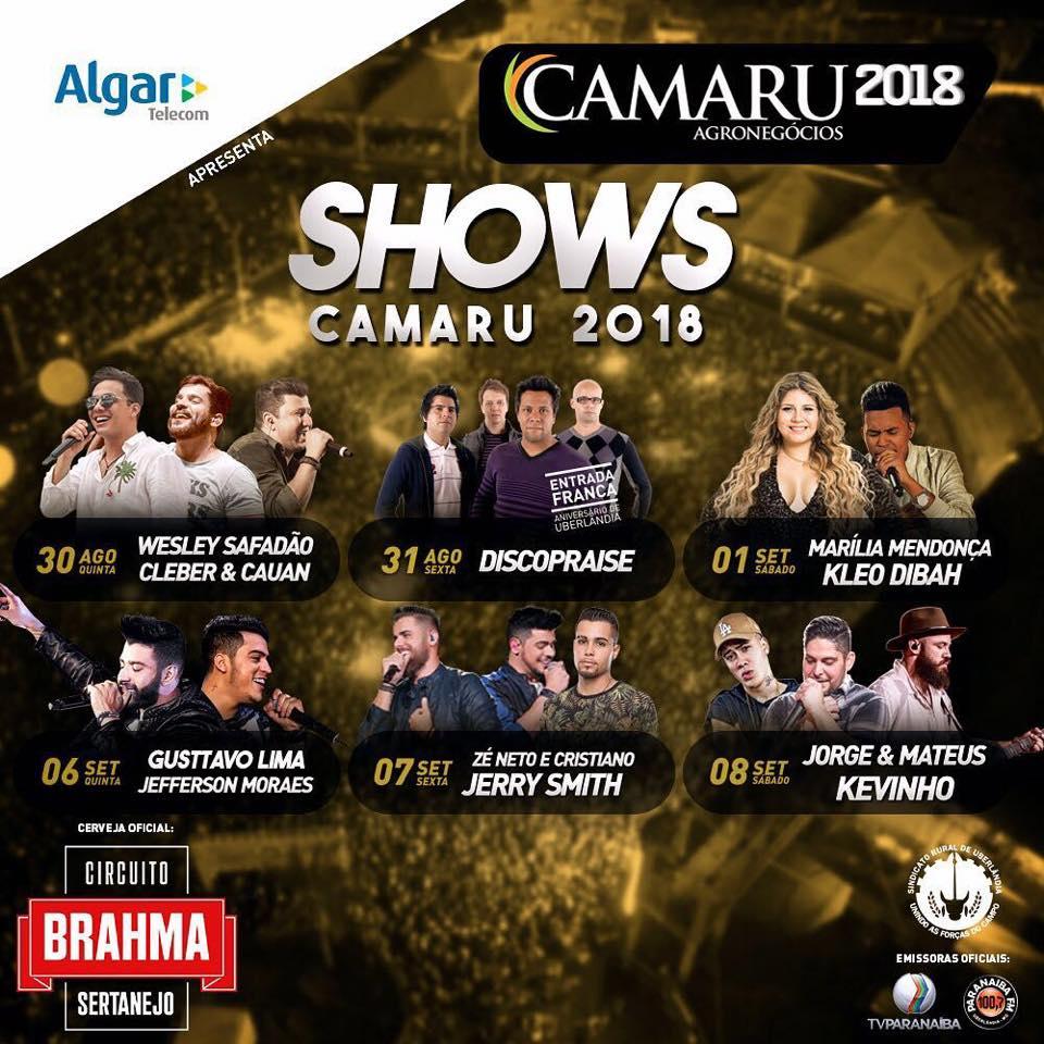 Circuito Rodeio 2018 : Está chegando o camaru shows rodeio exposições cavalgada